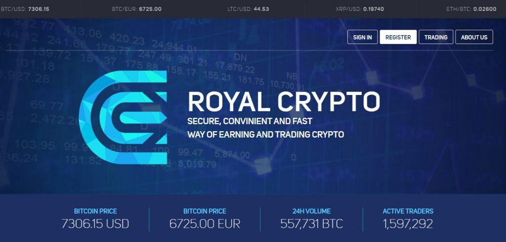 Royal Crypto изображение сайта