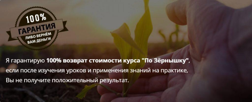курс по зернышку,Александр Писаревский,гарантия